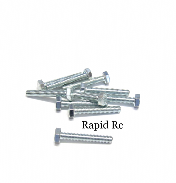 M4 x 25mm Hex Head High Tensile Hex Bolts